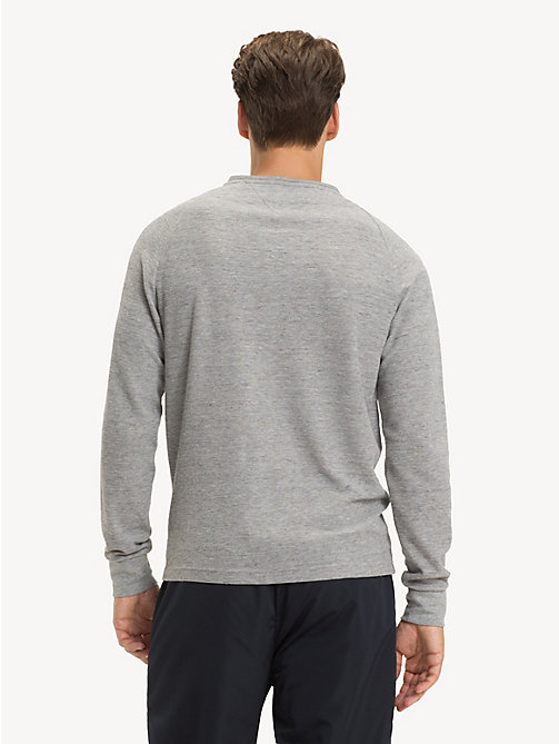 TOMMY HILFIGER Waffle Texture Long-Sleeve T-Shirt - CLOUD HTR - TOMMY HILFIGER T-Shirts - detail image 1