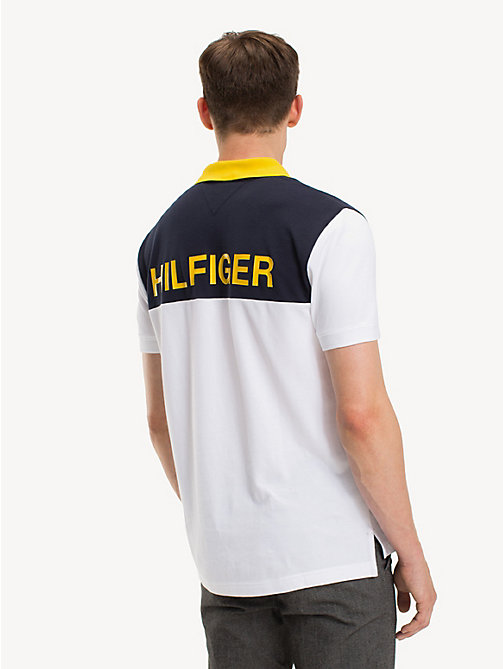 TOMMY HILFIGER Pure Cotton Logo Polo Shirt - BRIGHT WHITE - TOMMY HILFIGER NEW IN - detail image 1