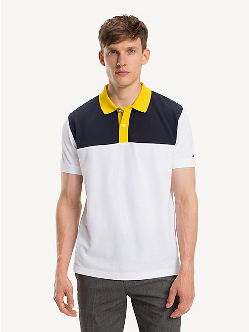TOMMY HILFIGER Pure Cotton Logo Polo Shirt - BRIGHT WHITE - TOMMY HILFIGER NEW IN - main image