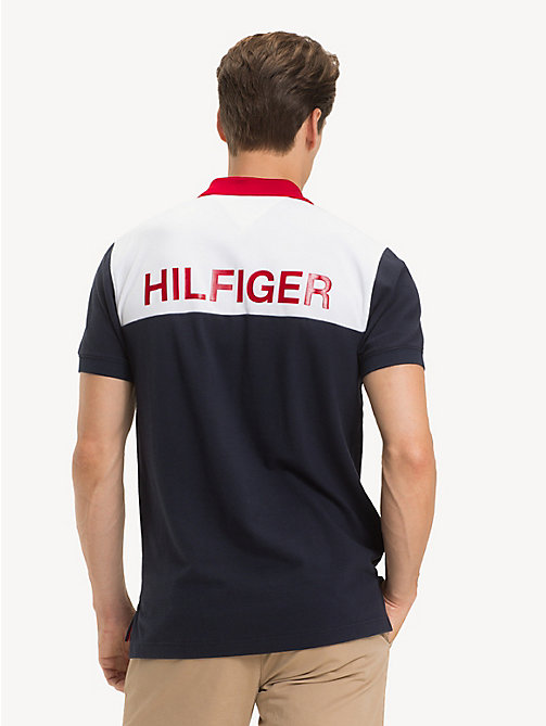 TOMMY HILFIGER Pure Cotton Logo Polo Shirt - SKY CAPTAIN - TOMMY HILFIGER NEW IN - detail image 1