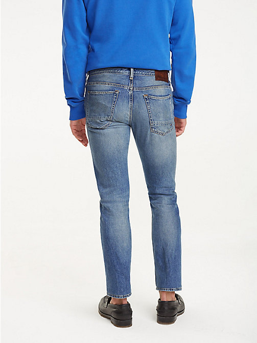 ... TOMMY HILFIGER Extra Slim Fit Jeans im Used Look - EIMS BLUE - TOMMY  HILFIGER Jeans 5f0c047200
