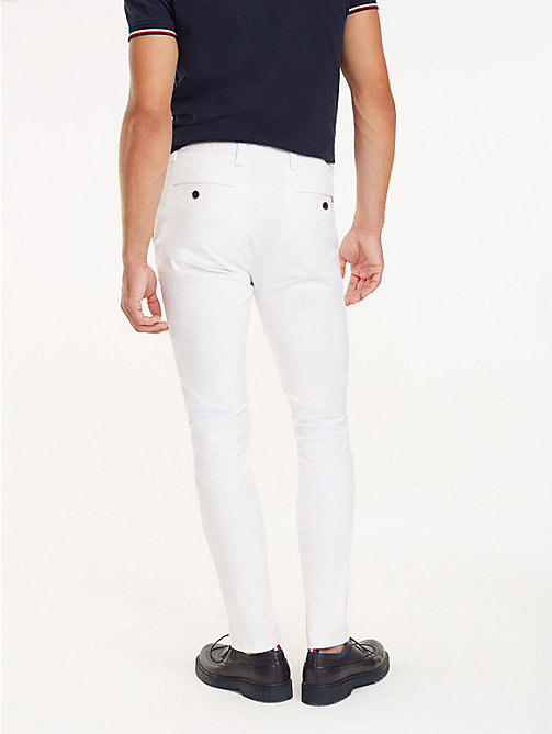 TOMMY HILFIGER SLIM BLEECKER CHINO ORG STR TWL - BRIGHT WHITE - TOMMY HILFIGER Chinos - detail image 1