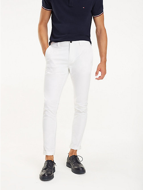TOMMY HILFIGER SLIM BLEECKER CHINO ORG STR TWL - BRIGHT WHITE - TOMMY HILFIGER Chinos - main image