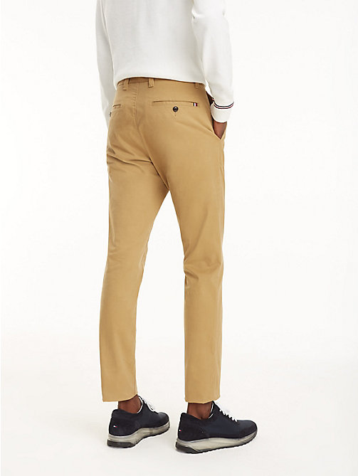TOMMY HILFIGER SLIM BLEECKER CHINO ORG STR TWL - TIGER'S EYE - TOMMY HILFIGER Chinos - detail image 1