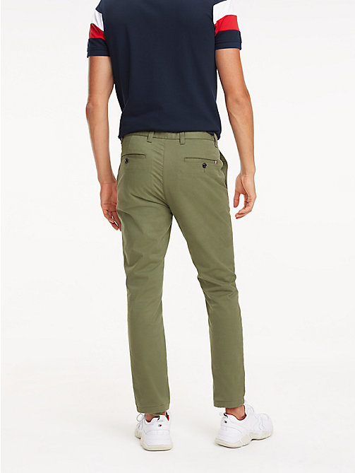 TOMMY HILFIGER SLIM BLEECKER CHINO ORG STR TWL - BURNT OLIVE - TOMMY HILFIGER Chinos - detail image 1