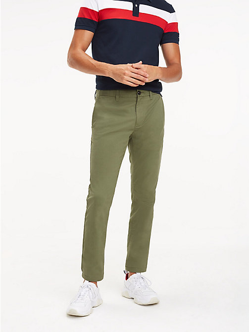 TOMMY HILFIGER SLIM BLEECKER CHINO ORG STR TWL - BURNT OLIVE - TOMMY HILFIGER Chinos - main image