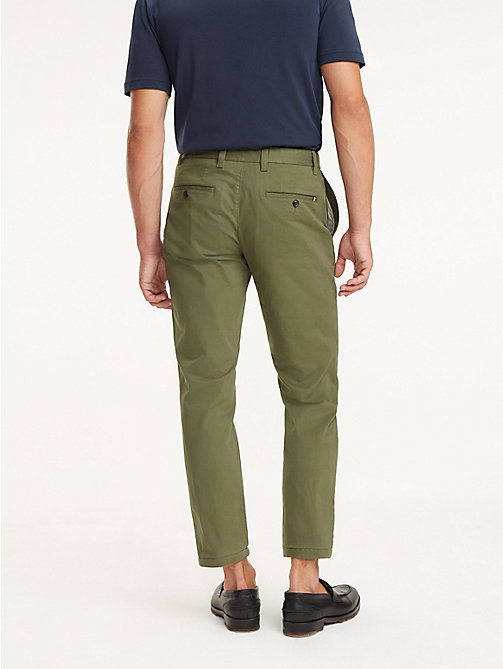 TOMMY HILFIGER REGULAR MERCER CHINO ORG STR TWL - BURNT OLIVE - TOMMY HILFIGER Chinos - detail image 1