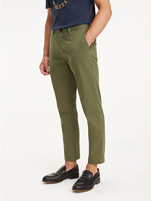 TOMMY HILFIGER REGULAR MERCER CHINO ORG STR TWL - BURNT OLIVE - TOMMY HILFIGER Chinos - main image