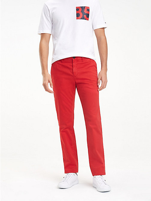 TOMMY HILFIGER STRAIGHT DENTON CHINO GMD FLEX - HAUTE RED - TOMMY HILFIGER Chinos - main image