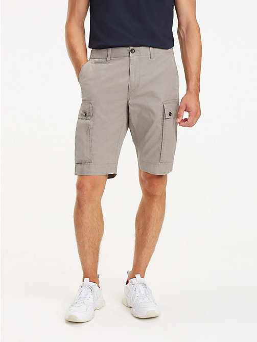 TOMMY HILFIGER Lightweight Cargo Shorts - STEEPLE GRAY - TOMMY HILFIGER Shorts - main image