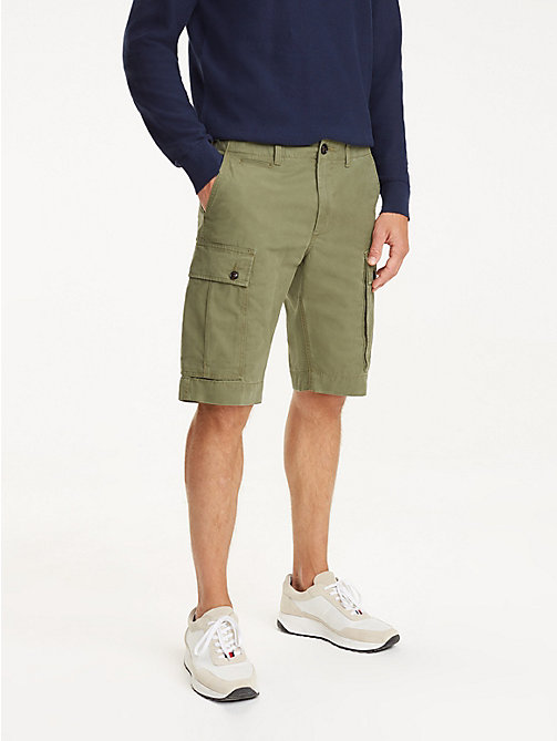 TOMMY HILFIGER Lightweight Cargo Shorts - BURNT OLIVE - TOMMY HILFIGER Shorts - main image