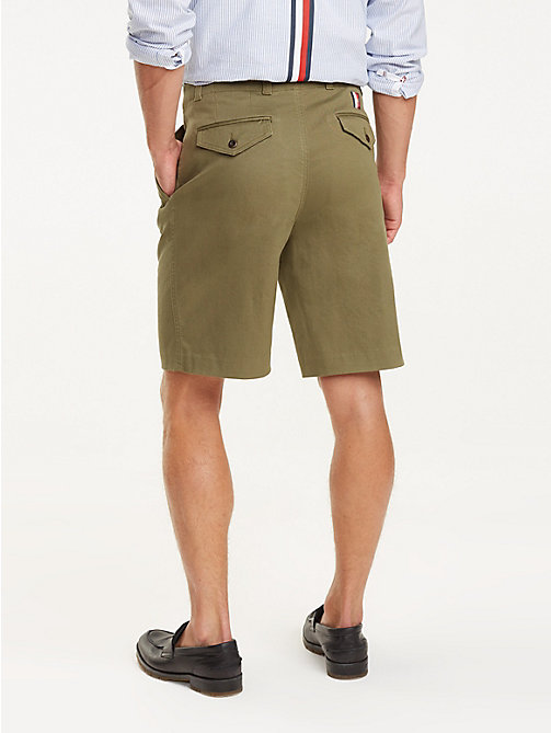 TOMMY HILFIGER Icon Ivy Shorts mit Falten - BURNT OLIVE - TOMMY HILFIGER NEW IN - main image 1