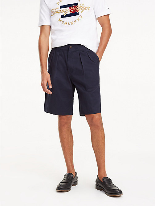 TOMMY HILFIGER Icon Ivy Shorts mit Falten - NIGHT SKY - TOMMY HILFIGER NEW IN - main image