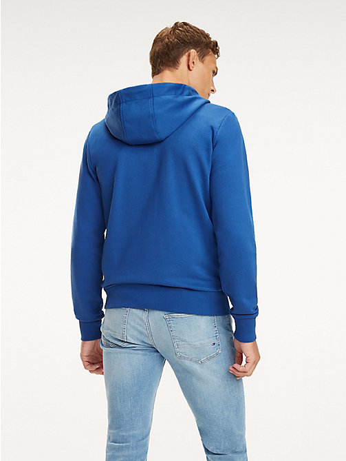 TOMMY HILFIGER Signature Tape Zip-Thru Hoody - BLUE QUARTZ - TOMMY HILFIGER Hoodies - detail image 1