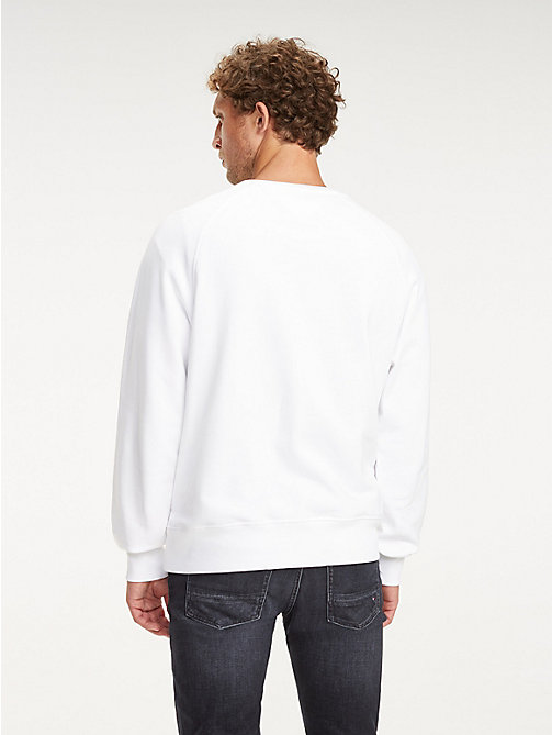 TOMMY HILFIGER Sweatshirt mit Metallic-Logo - BRIGHT WHITE - TOMMY HILFIGER NEW IN - main image 1