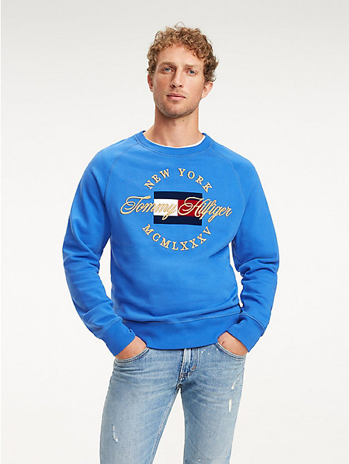 TOMMY HILFIGER Sweatshirt mit Metallic-Logo - ICON BLUE - TOMMY HILFIGER NEW IN - main image