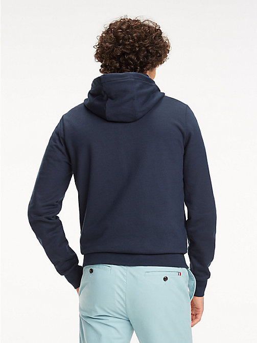 TOMMY HILFIGER Signature Tape Zip-Thru Hoody - SKY CAPTAIN - TOMMY HILFIGER Hoodies - detail image 1