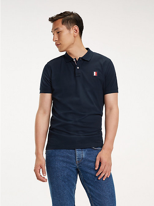 TOMMY HILFIGER Poloshirt mit Monogramm-Patch - SKY CAPTAIN - TOMMY HILFIGER NEW IN - main image