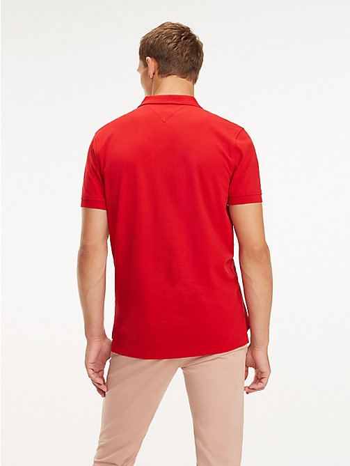 TOMMY HILFIGER Poloshirt mit Monogramm-Patch - HAUTE RED - TOMMY HILFIGER NEW IN - main image 1