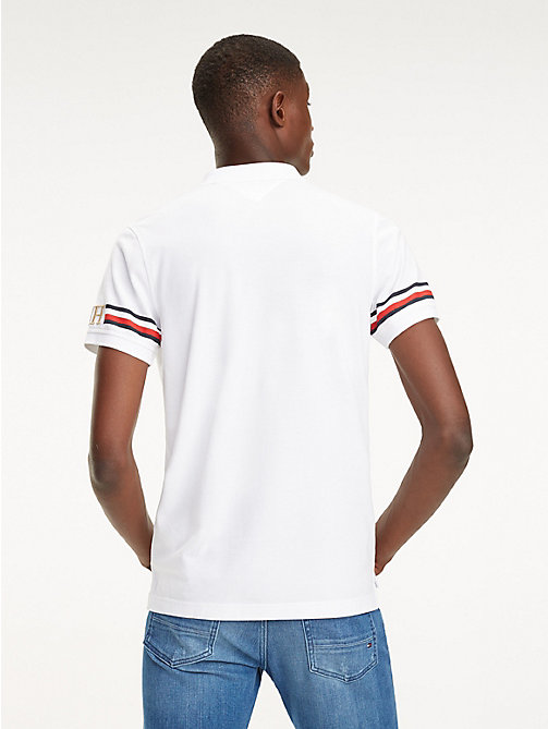 TOMMY HILFIGER Slim Fit Poloshirt mit Tommy-Streifen - BRIGHT WHITE - TOMMY HILFIGER NEW IN - main image 1