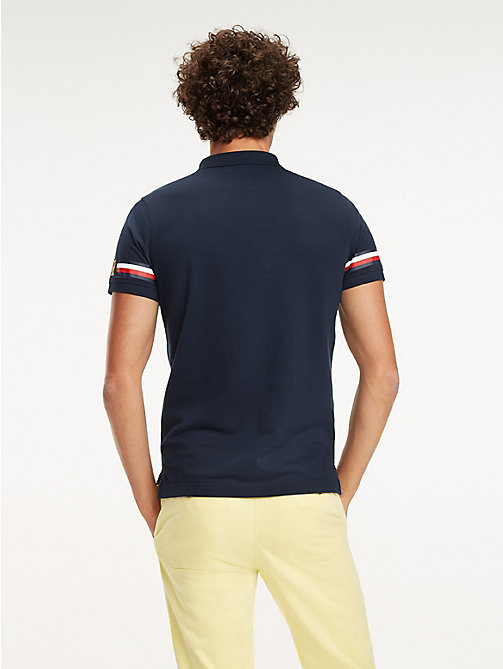 TOMMY HILFIGER Slim Fit Poloshirt mit Tommy-Streifen - SKY CAPTAIN - TOMMY HILFIGER NEW IN - main image 1