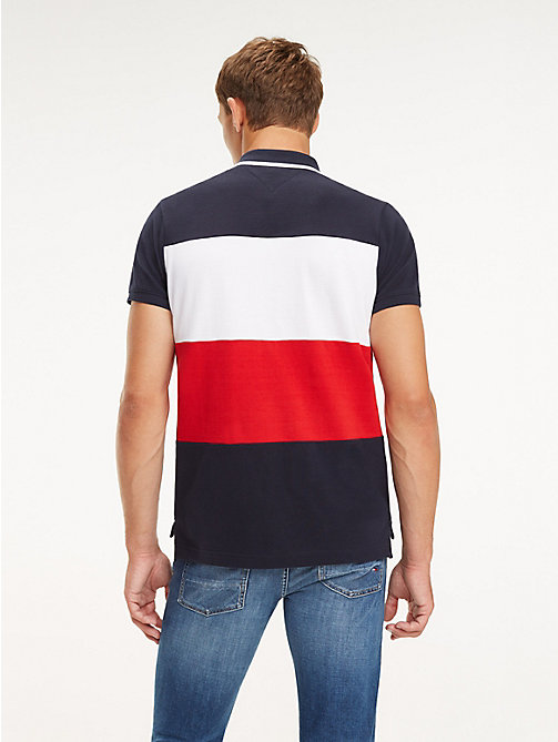 TOMMY HILFIGER Slim Fit Polo mit Blockfarben - SKY CAPTAIN / MULTI - TOMMY HILFIGER NEW IN - main image 1