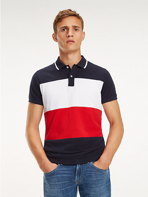 TOMMY HILFIGER Slim Fit Polo mit Blockfarben - SKY CAPTAIN / MULTI - TOMMY HILFIGER NEW IN - main image