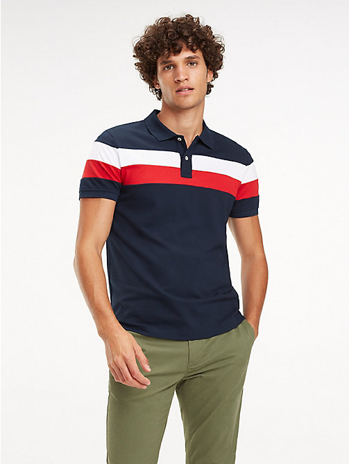 ba9bb776862c TOMMY HILFIGERStripe Slim Fit Polo