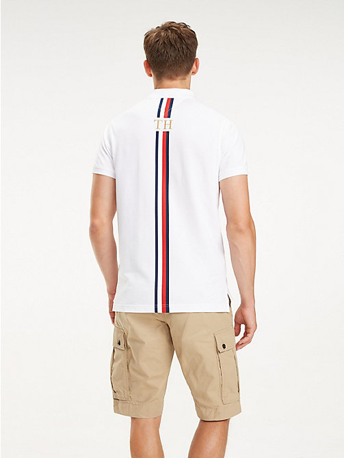 TOMMY HILFIGER Stripe Back Polo - BRIGHT WHITE - TOMMY HILFIGER NEW IN - detail image 1