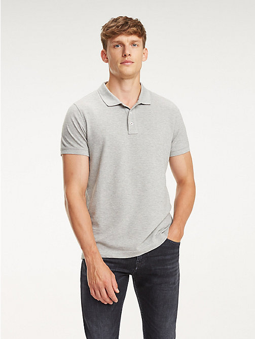 TOMMY HILFIGER Stripe Back Polo - CLOUD HTR - TOMMY HILFIGER NEW IN - main image