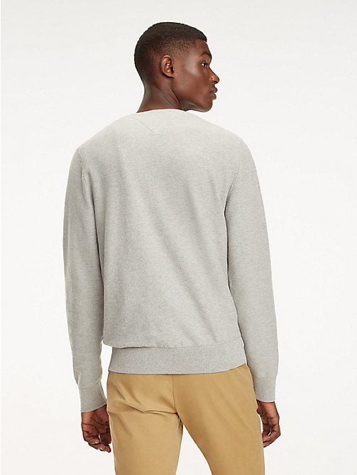 TOMMY HILFIGER Cotton Crew Neck Jumper - CLOUD HTR - TOMMY HILFIGER Jumpers - detail image 1