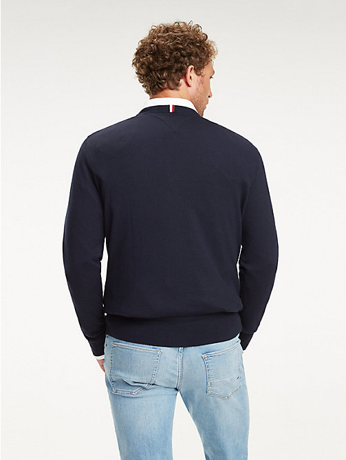 TOMMY HILFIGER Cool Comfort Crew Neck Jumper - SKY CAPTAIN - TOMMY HILFIGER Jumpers - detail image 1