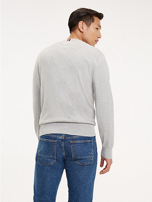 TOMMY HILFIGER Cool Comfort Crew Neck Jumper - CLOUD HTR - TOMMY HILFIGER Jumpers - detail image 1