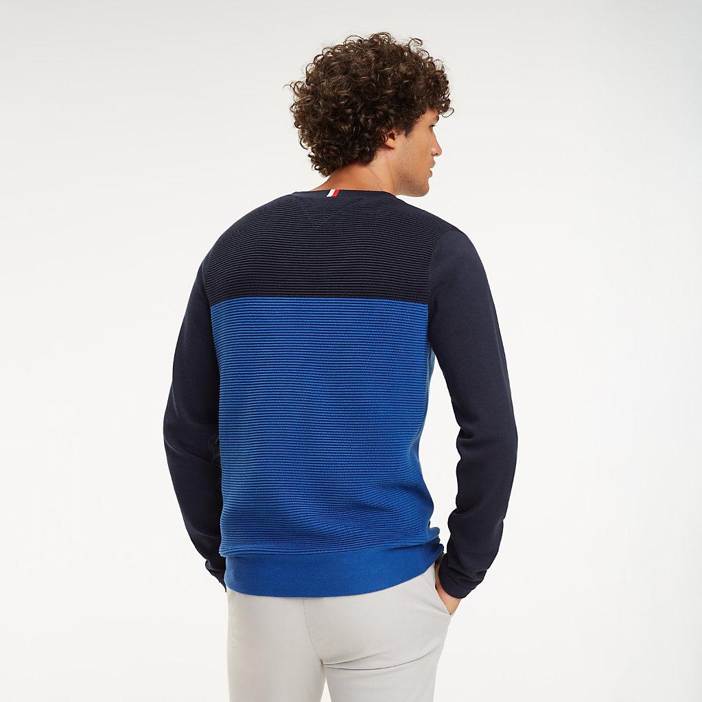 Tommy Hilfiger - Jersey color block de cuello redondo - 3