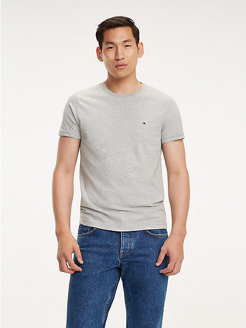 TOMMY HILFIGER Essential Crew Neck T-Shirt - CLOUD HTR - TOMMY HILFIGER T-Shirts - main image