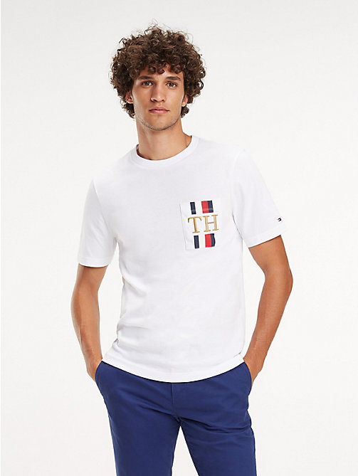 TOMMY HILFIGER Relaxed Fit T-Shirt mit Monogramm - BRIGHT WHITE - TOMMY HILFIGER NEW IN - main image
