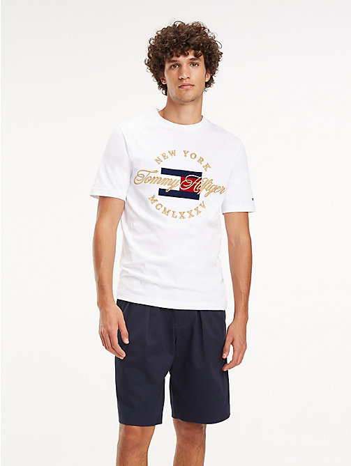 TOMMY HILFIGER T-Shirt mit New York-Logo - BRIGHT WHITE - TOMMY HILFIGER NEW IN - main image