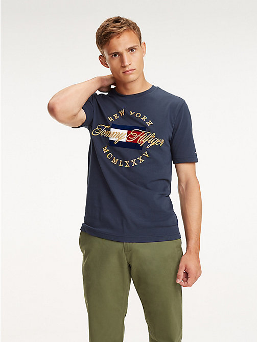 TOMMY HILFIGER T-Shirt mit New York-Logo - SKY CAPTAIN - TOMMY HILFIGER NEW IN - main image