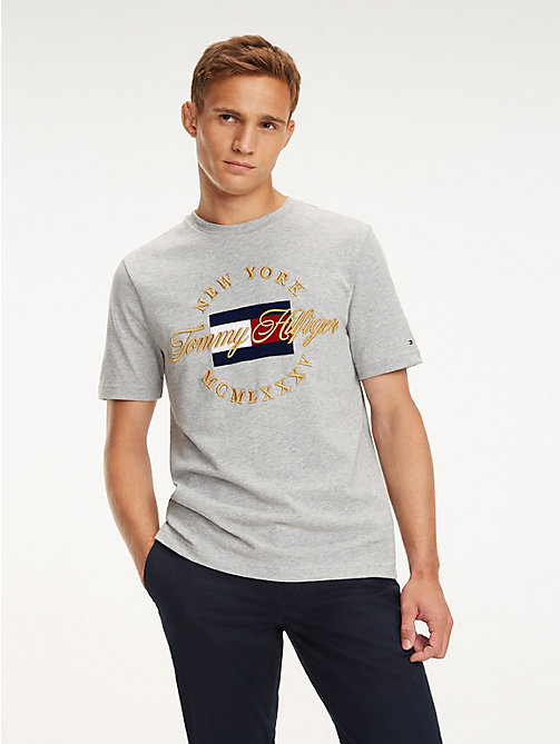 TOMMY HILFIGER T-Shirt mit New York-Logo - CLOUD HTR - TOMMY HILFIGER NEW IN - main image