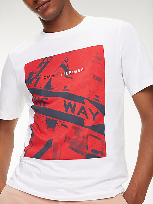 TOMMY HILFIGER Photo Print Crew Neck T-Shirt - BRIGHT WHITE - TOMMY HILFIGER T-Shirts - main image