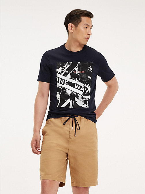 TOMMY HILFIGER Photo Print Crew Neck T-Shirt - SKY CAPTAIN - TOMMY HILFIGER T-Shirts - main image