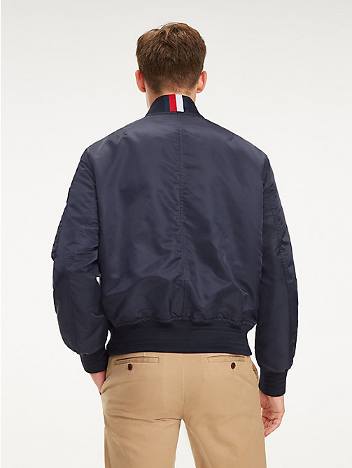 TOMMY HILFIGER Signature Tape Bomber Jacket - SKY CAPTAIN - TOMMY HILFIGER NEW IN - detail image 1