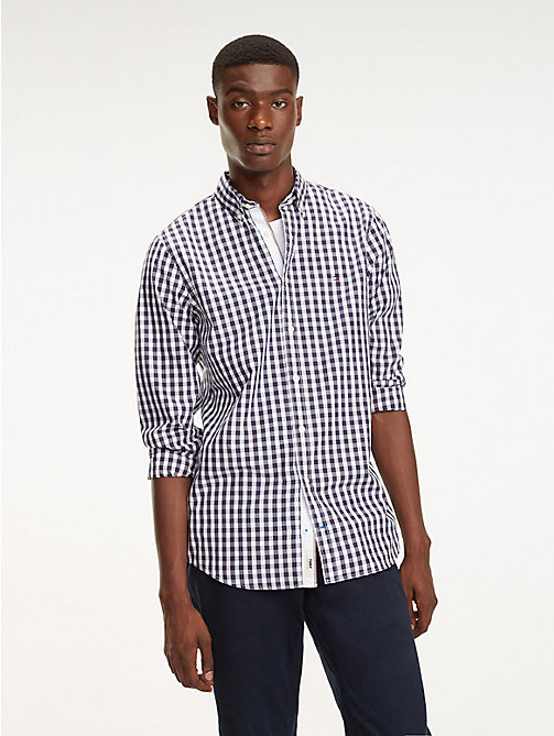 TOMMY HILFIGER Gingham Check Cotton Shirt - PEACOAT / MULTI - TOMMY HILFIGER Casual Shirts - detail image 1