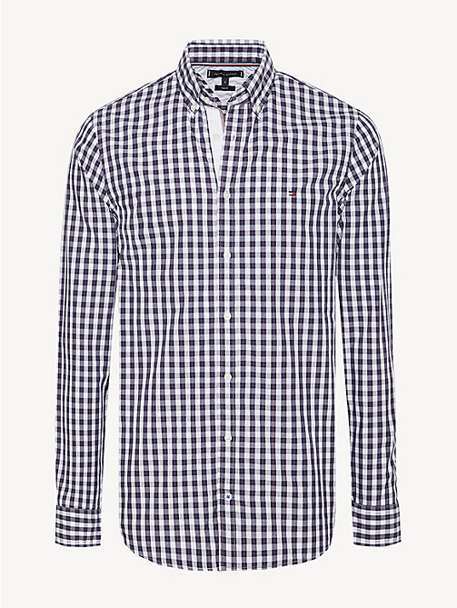 TOMMY HILFIGER Gingham Check Cotton Shirt - PEACOAT / MULTI - TOMMY HILFIGER Casual Shirts - main image