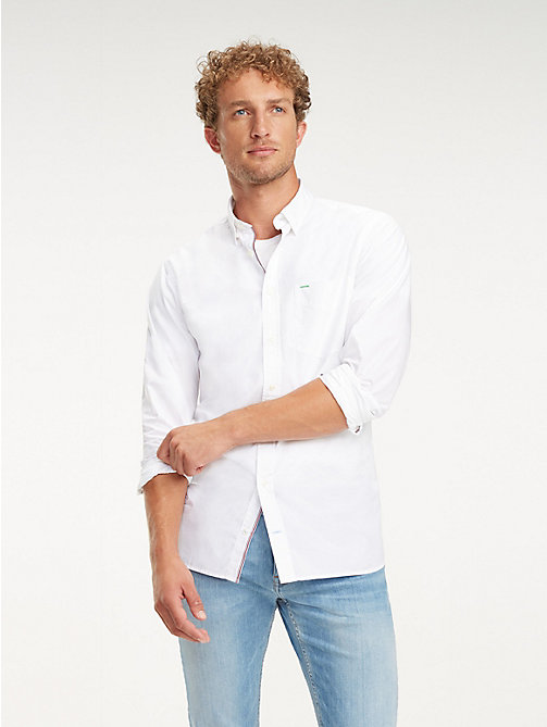 TOMMY HILFIGER Essential Front Pocket Cotton Shirt - BRIGHT WHITE - TOMMY HILFIGER Casual Shirts - detail image 1