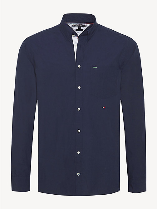 TOMMY HILFIGER Essential Front Pocket Cotton Shirt - NAVY BLAZER - TOMMY HILFIGER Casual Shirts - main image