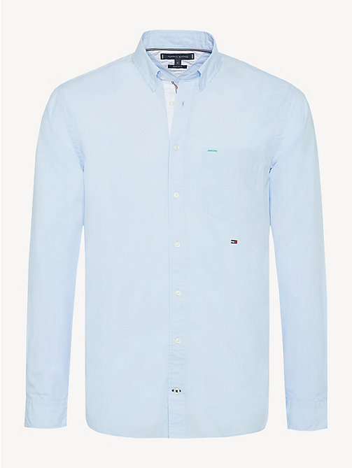 TOMMY HILFIGER Essential Front Pocket Cotton Shirt - SOFT BLUE - TOMMY HILFIGER Casual Shirts - main image