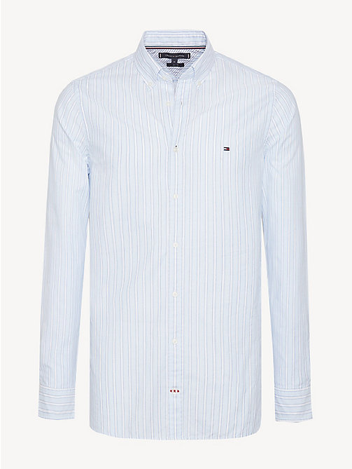 TOMMY HILFIGER Essential Slim Fit Stripe Shirt - SOFT BLUE / MULTI - TOMMY HILFIGER Casual Shirts - main image