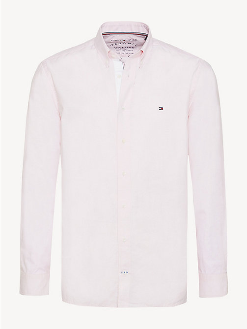 TOMMY HILFIGER Essential Pure Cotton Regular Fit Shirt - PINK - TOMMY HILFIGER Casual Shirts - main image