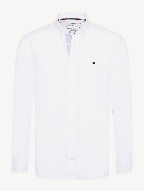 TOMMY HILFIGER Essential Pure Cotton Regular Fit Shirt - BRIGHT WHITE - TOMMY HILFIGER Casual Shirts - main image